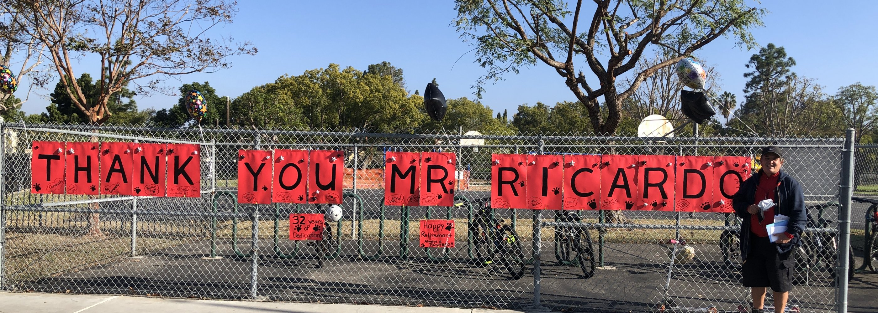 Mr. Ricardo's last day after 32 years!